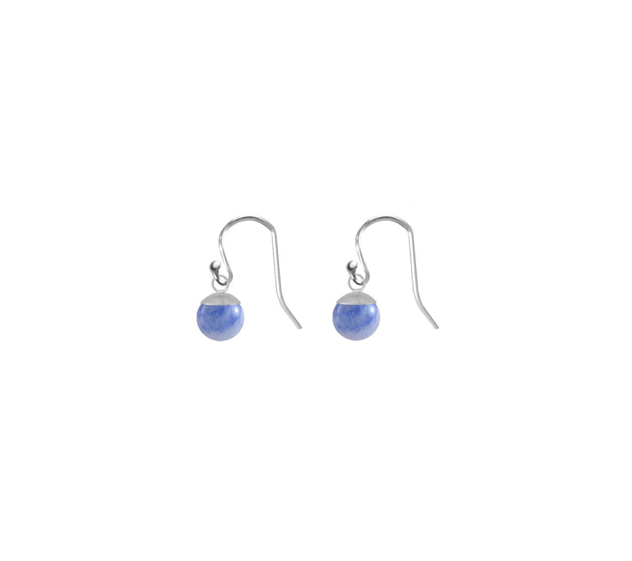 Mas Jewelz earring Classic Blue Quartz Silver