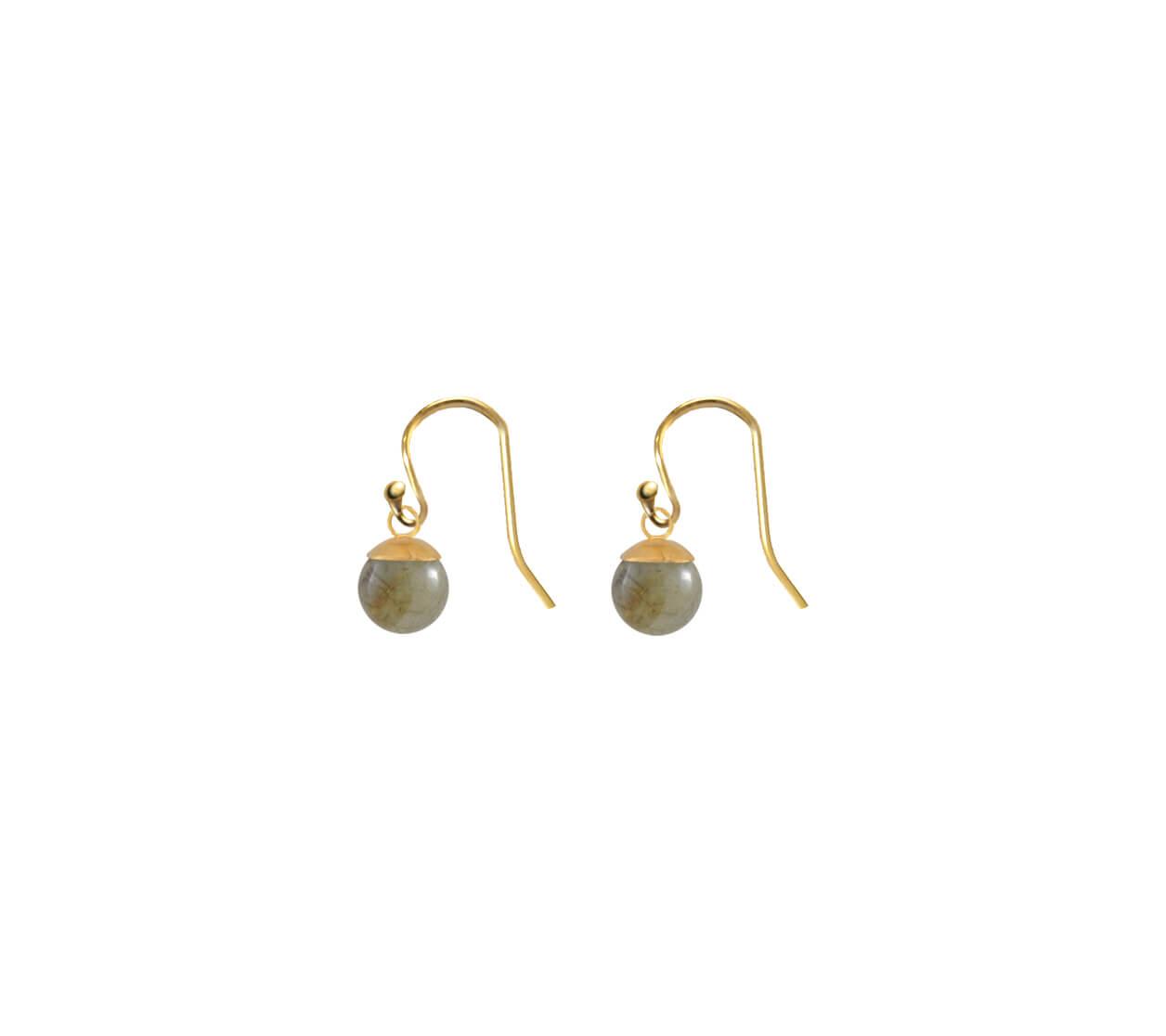 Mas Jewelz earring Classic Labradorite Gold