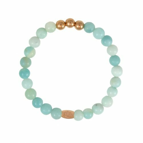 Mas Jewelz 6 mm Amazonite Rose gold