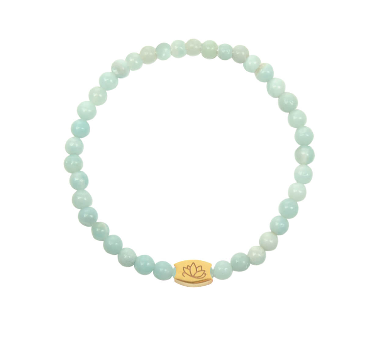 Mas Jewelz 4 mm Amazonite Model 1 Gold