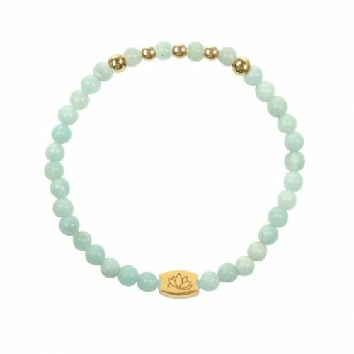 Mas Jewelz 4 mm Amazonite Model 2 Gold