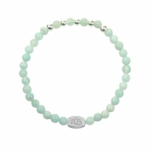 Mas Jewelz 4 mm Amazonite Model 2 Silver