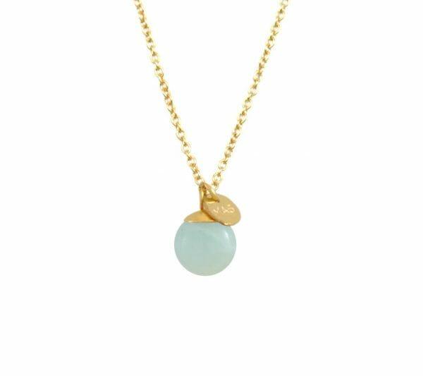 Mas Jewelz necklace Classic Amazonite Gold