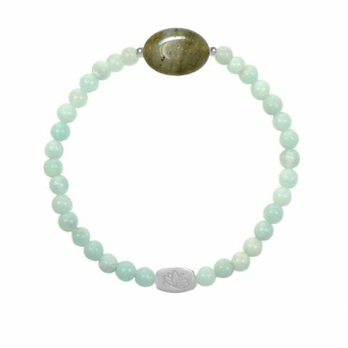 Mas Jewelz Amazonite bracelet with Labradorite oval Silver