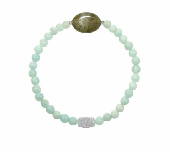 Mas Jewelz Amazonite bracelet with Labradorite oval Silver