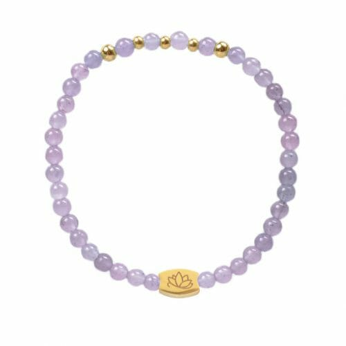 Mas Jewelz 4 mm Light Amethyst Model 2 Gold