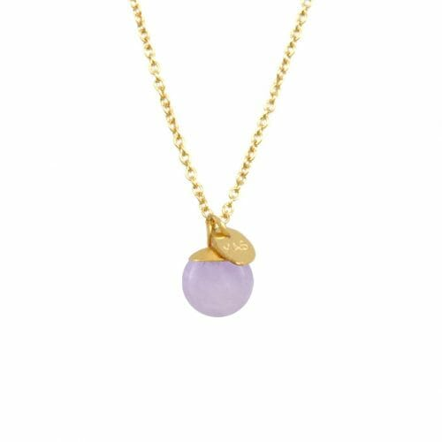 Mas Jewelz necklace Classic Light Amethyst Gold