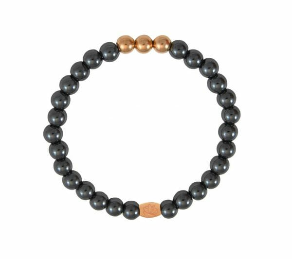 Mas Jewelz 6 mm Blackstone Rose gold