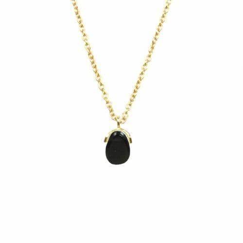Mas Jewelz necklace Bail Blackstone Gold