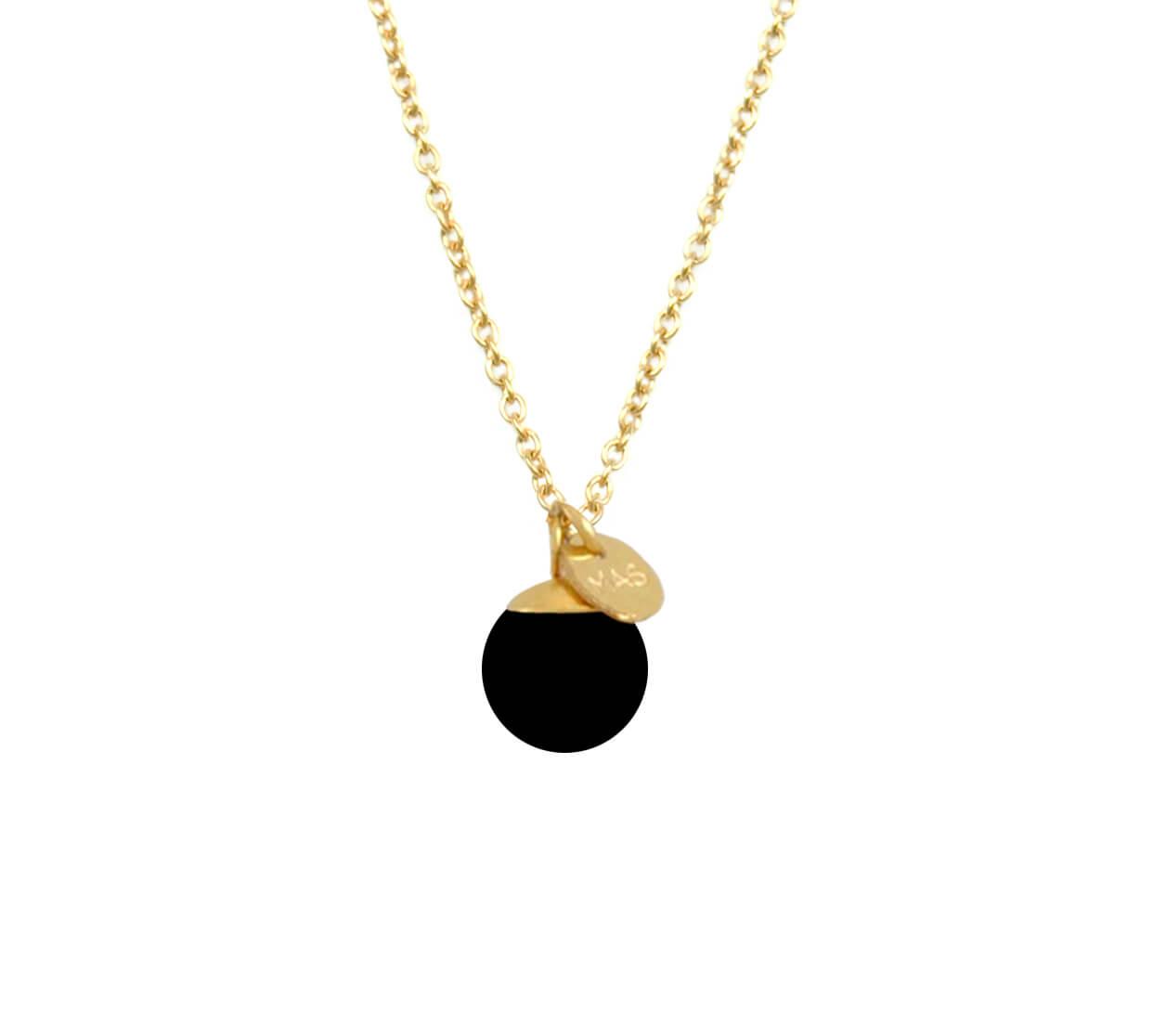 Mas Jewelz necklace Classic Blackstone Gold