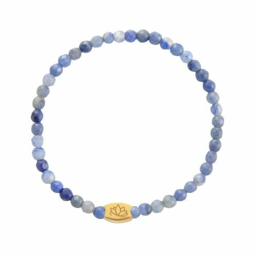 Mas Jewelz Special Facet Blue Quartz Model 1 Gold