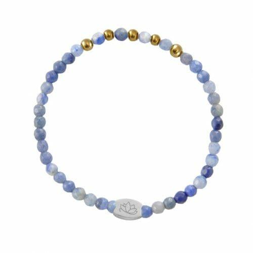 Mas Jewelz Special Facet Blue Quartz Model 2 Gold