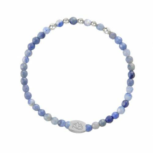 Mas Jewelz Special Facet Blue Quartz Model 2 Silver