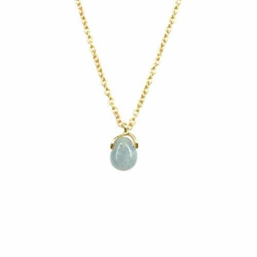 Mas Jewelz necklace Bail Blue Quartz Gold