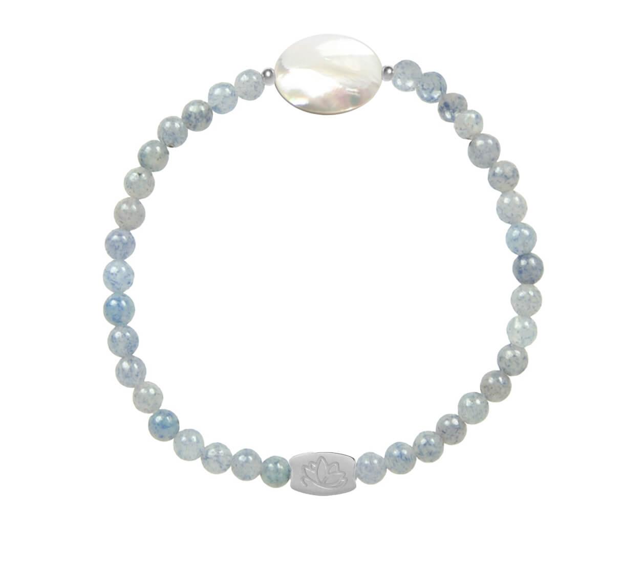 Mas Jewelz Mother of pearl armband met ovaal Zilver