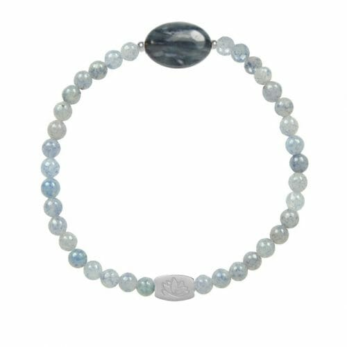 Mas Jewelz Blue Quartz bracelet with Blue Quartz oval Silver