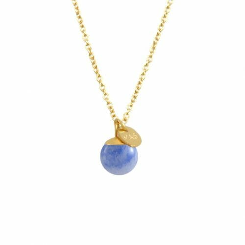 Mas Jewelz necklace Classic Blue Quartz Gold