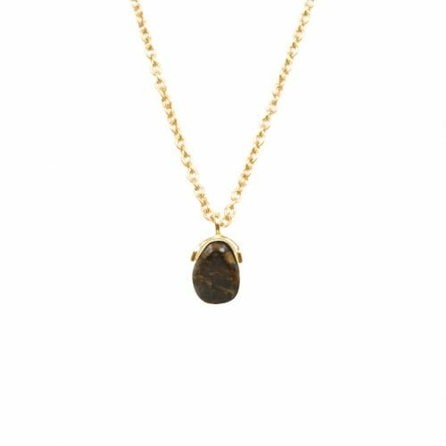 Mas Jewelz necklace Bail Bronzite Gold