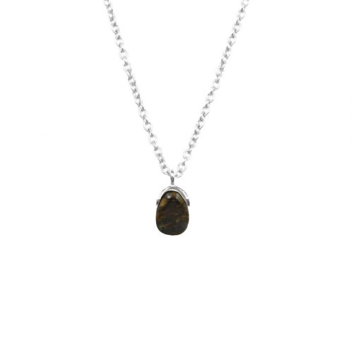 Mas Jewelz necklace Bail Bronzite Silver