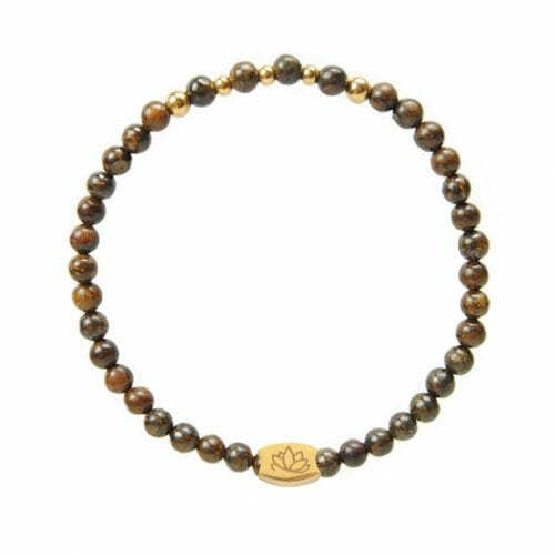 Mas Jewelz 4 mm Bronzite Model 2 Gold