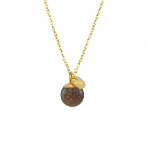 Mas Jewelz necklace Classic Bronzite Gold