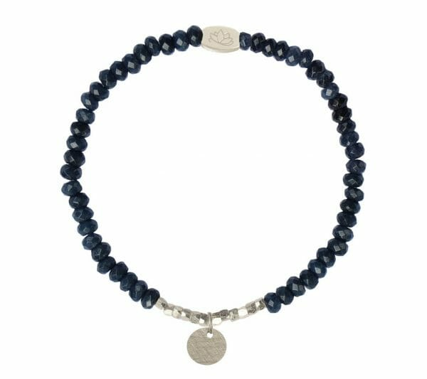 Mas Jewelz 3/4 Facet Blue Agate with Nuggets and Coin Silver