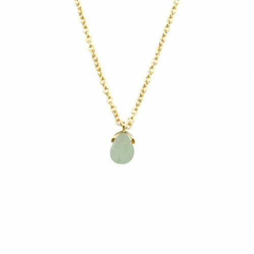 Mas Jewelz necklace Bail Green Aventurine Gold