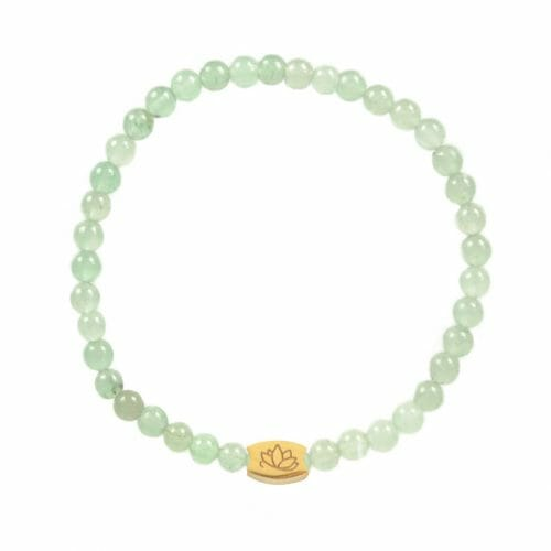 Mas Jewelz 4 mm Green Aventurine Model 1 Gold