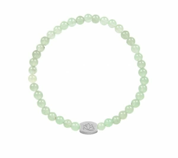 Mas Jewelz 4 mm Green Aventurine Model 1 Silver
