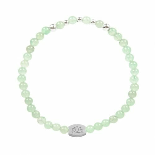 Mas Jewelz 4 mm Green Aventurine Model 2 Silver