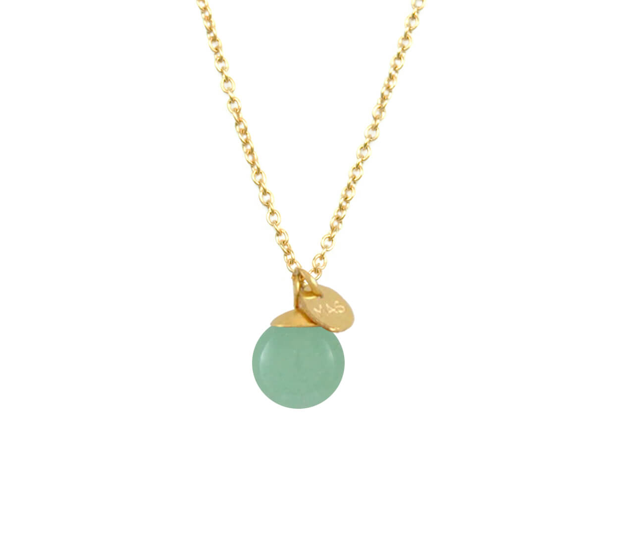 Mas Jewelz necklace Classic Green Aventurine Gold