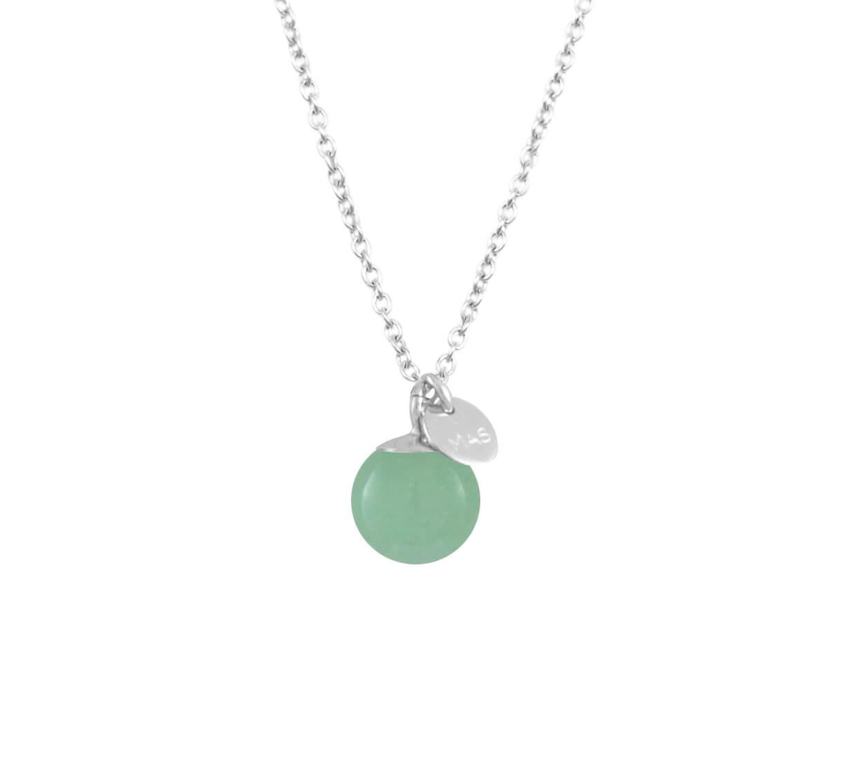 Mas Jewelz necklace Classic Green Aventurine Silver
