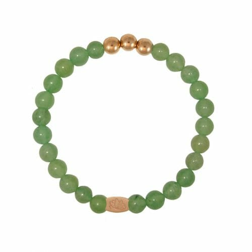Mas Jewelz 6 mm Green Aventurine Rose gold