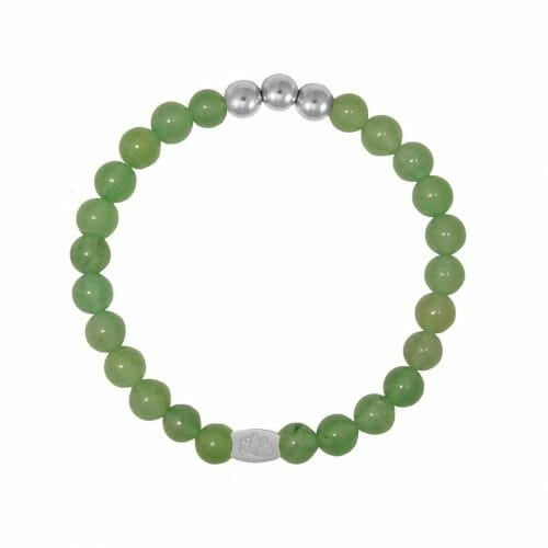 Mas Jewelz 6 mm Green Aventurine Silver