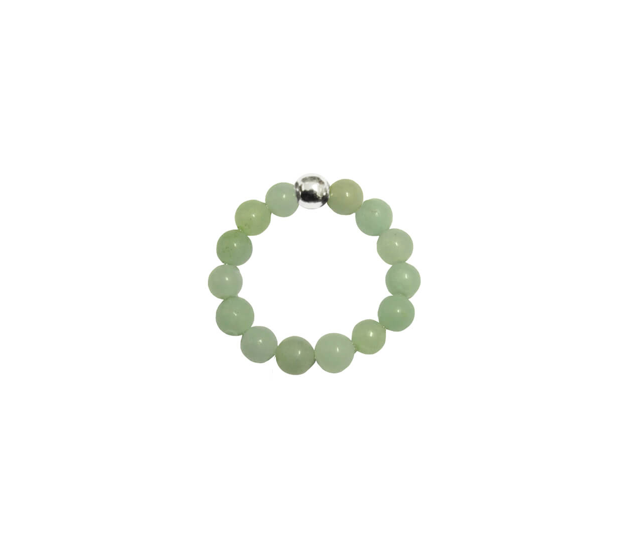 Mas Jewelz Ring 4 mm Green Aventurine Model 1