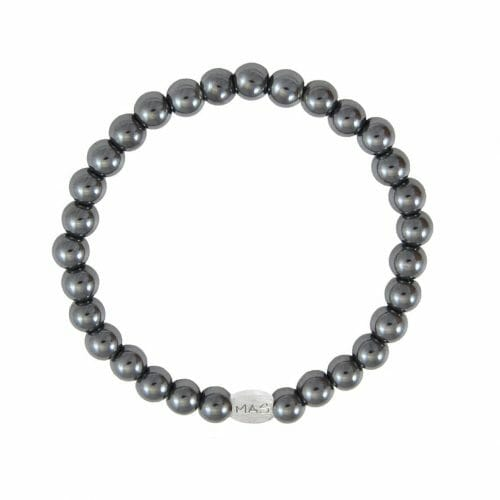 Mas Jewelz Men 6 mm Hematite Model 1