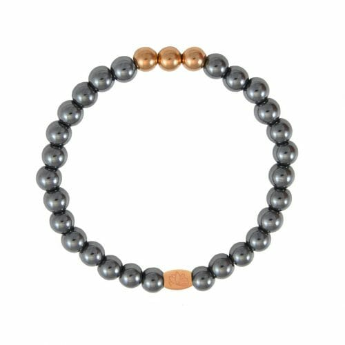 Mas Jewelz 6 mm Hematite Rose gold