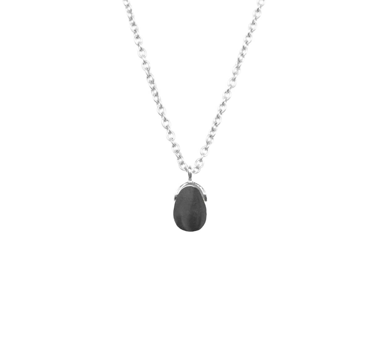 Mas Jewelz necklace Bail Hematite Silver