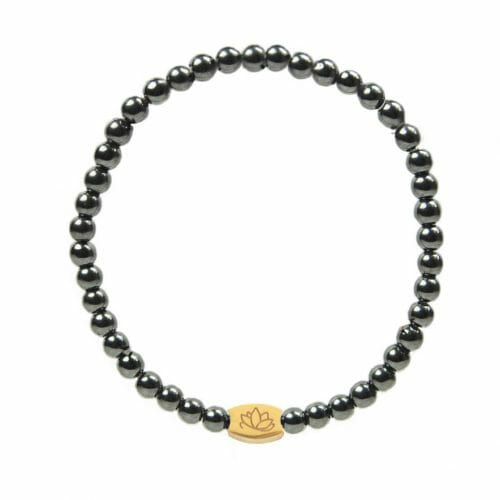 Mas Jewelz 4 mm Hematite Model 1 Gold