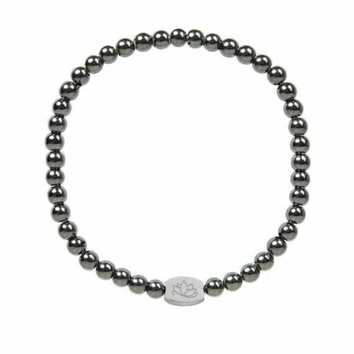 Mas Jewelz 4 mm Hematite Model 1 Silver