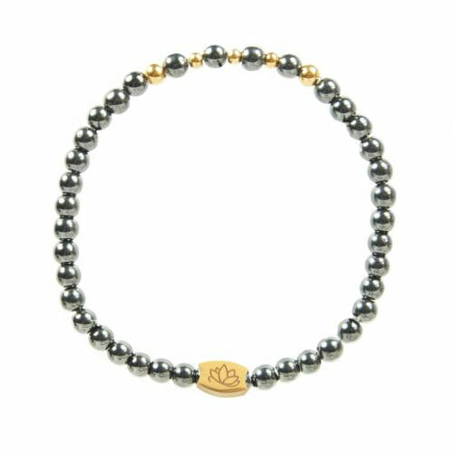 Mas Jewelz 4 mm Hematite Model 2 Gold