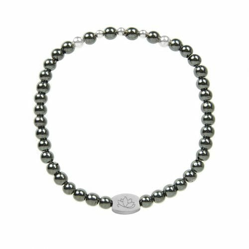 Mas Jewelz 4 mm Hematite Model 2 Silver