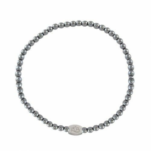 Mas Jewelz 3 mm Hämatit Silber