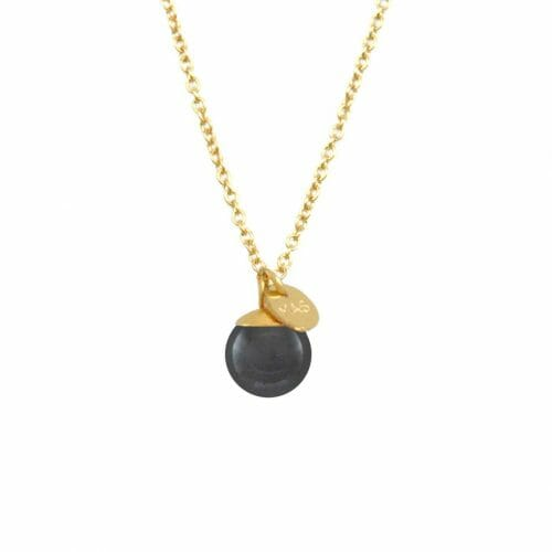 Mas Jewelz necklace Classic Hematite Gold