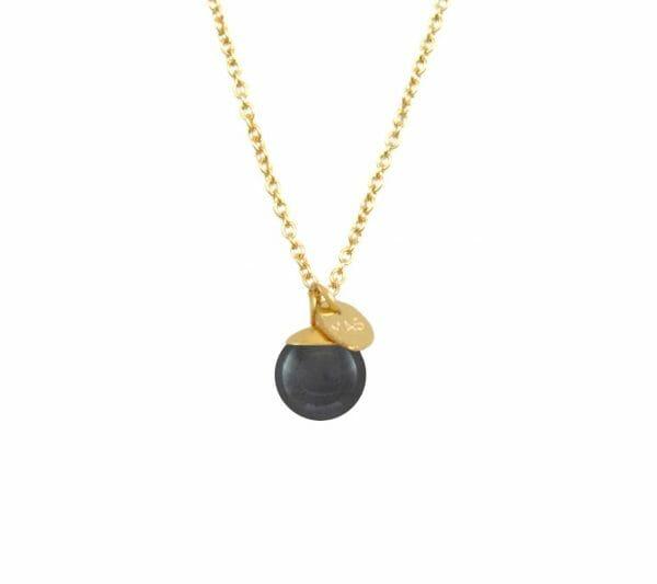 Mas Jewelz necklace Classic Hematite Gold