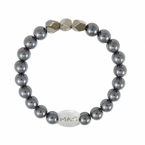 Mas Jewelz Men 8 mm Hematite Model 2