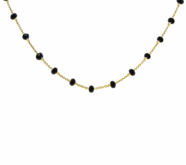 Mas Jewelz necklace Facet Blackstone 1 cm Gold