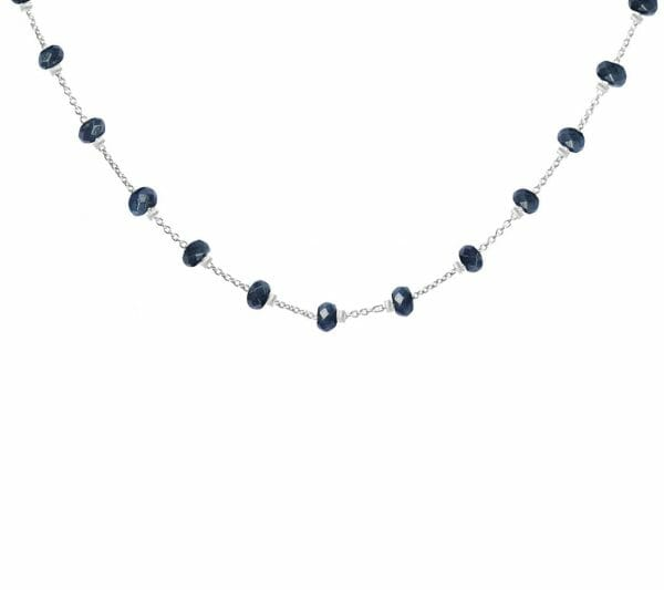 Mas Jewelz necklace Facet Blauw 1 cm Gold