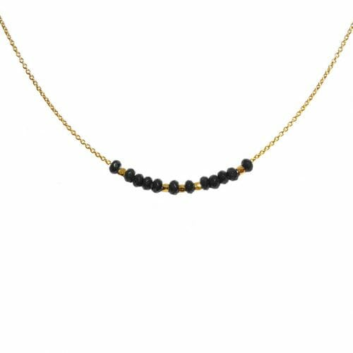 Mas Jewelz necklace 3/4 facet Blackstone Gold