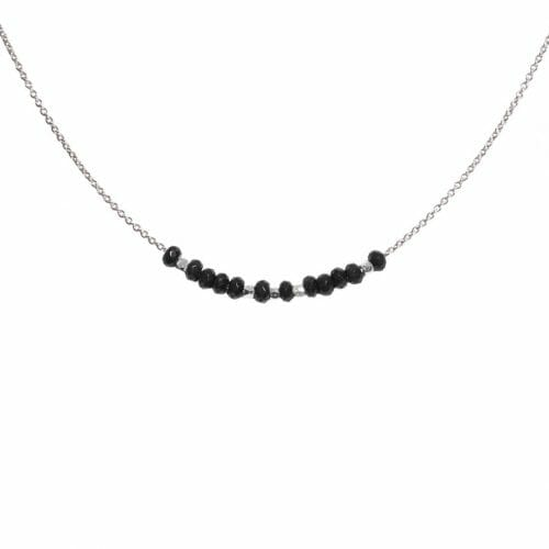 Mas Jewelz necklace 3/4 facet Blackstone Silver